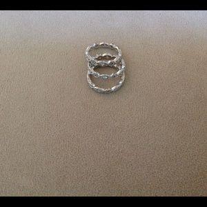 Stella & Dot ring set.